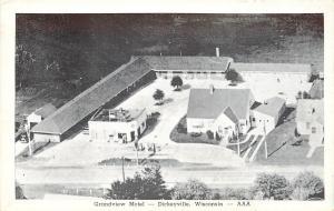 Dickeyville Wisconsin~Birdseye Grandview Motel~Gas Station~Phone 21 Ring 2~1940s
