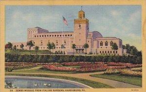 Zembo Mosque From Italian Gardens Harrisburg Pennsylvania 1955
