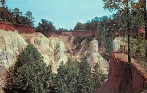 Lumpkin Georgia~Providence Canyon~Georgia's Little Grand Canyon~1960s Postcard