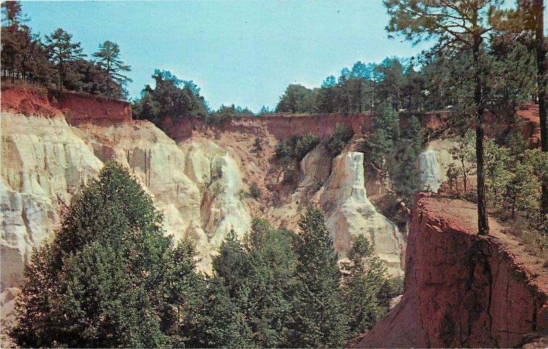 Lumpkin Georgia~Providence Canyon~Georgia's Little Grand Canyon~1960s Postcard