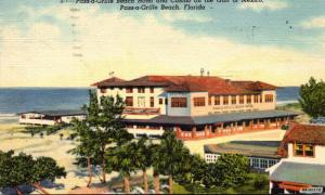Florida Pass-A-Grille Beach Hotel and Casino On Gulf Of Mexico 1949 Curteich