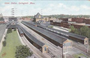 SPRINGFIELD , Massachusetts , PU-1908 ; Air view, Union Station