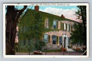 Bardstown, KY-Kentucky, My Old Kentucky Home, Vintage c1933 Postcard
