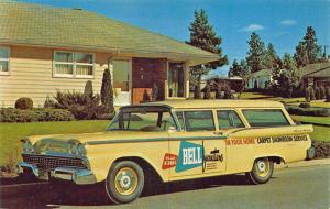 Spokane WA Ford Ranch Wagon Bell furniture Carpet Showroom Postcard
