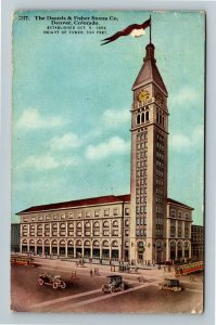 Denver CO, The Daniels & Fisher Stores Company, Vintage Colorado c1919 Postcard