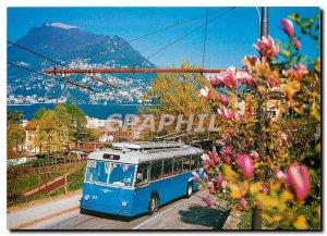 Postcard Modern Paradiso IT Trolleybus Nr. 127 (1966)