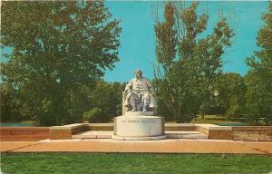 Vincennes Indiana~Colonel Francis Vigo Statue~1964 PC