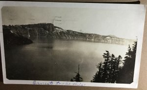 Real Photograph Postcard Of Crater Lake Oregon 1921, Vintage Scenic Postcard