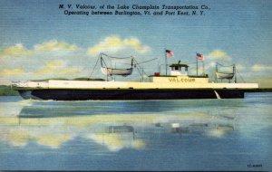New York M V Vancour Of The Lake Champlain Transportation Company Curteich
