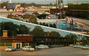 Autos Curtwood Hotel Court Restaurant Gainesville Texas Postcard Wahl's 10724