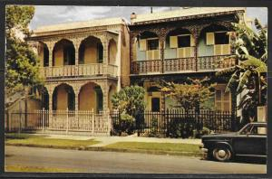 1962 Louisiana, New Orleans, antebellum home, mailed to Czechoslovakia
