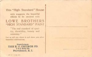 11197   Lowe Bros. High Standard Paint Sold by E.C.Church Co. Providence RI