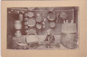 RP: Japan ; Cabinet Card - Baskets and Basketmaker , 1890s