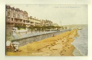 h0405 - Promenade , Sandown , Isle of Wight - postcard