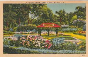 New York Buffalo Floral Emblem In Humboldt Park