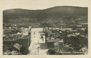 norway norge, DRAMMEN, Panorama (1910s) RPPC Postcard