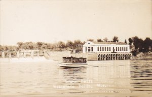 Dam And Boat Landing Lower Dells Wisconsin Real Photo