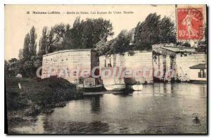 Old Postcard Maisons Laffitte Bords De Seine The Ruins Of Old Mill