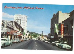 Ashland Oregon Main Street c1962 Business District Lots of Signs