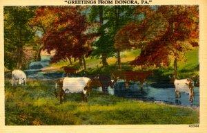 PA - Donora. Greetings! Landscape Scene