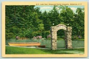 Ridgecrest North Carolina~Ridgecrest Baptist Assembly~Lake Dew Stone Arch~1940s