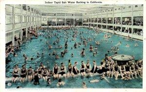 California - People enjoying indoor tepid Salt Water Bathing - in the 1920s