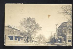 RPPC MADISON NEBRASKA DOWNTOWN STREET SCENE THEATRE REAL PHOTO POSTCARD