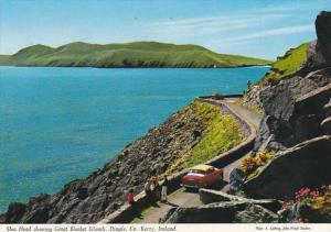 Ireland Kerry Slea Head Showing Great Blasket Islands Dingle