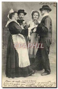 Old Postcard Folklore Dance in Brittany Jabadaoue