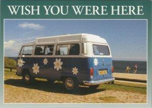 Cornwall Postcard - Wish You Were Here - VW Camper Van  RR10623