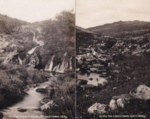Great Mis Tor Wallcomb River Devon 2x Real Photo Postcard
