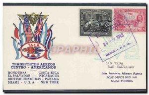 Flight Nicaragua to Miami Letter 20 1943