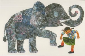 Dancing Elephant From Head To Toe Eric Carle Book Postcard