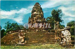 Postcard Modern Neak Pean Angkor Wat Cambodia