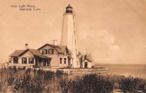 Saybrook Connecticut Inner Light House Scenic View Vintage Postcard JJ658752