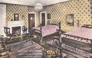 West Virginia Lewisburg Master Chamber General Lewis Hotel Handcolored Albertype