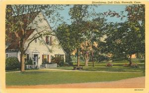 1940s Shorehaven Golf Club Norwalk Connecticut Postcard Teich Hahn 13331