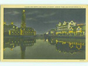 Casino At Night & North End Hotel Asbury Park & Ocean Grove New Jersey NJ HQ4049