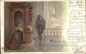 German - Lord's Our Prayer Series c1905 Postcard #5