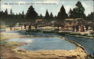 Yellowstone National Park Sunset Lake Upper Geyser Basin Stagecoaches PC