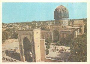 Uzbekistan Samarkand gur amir entrance portal mausoleum architecture Postcard
