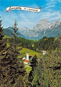 Sommerfrische Lungoetz Salzburg im Lammertal Kirche Gesamtansicht