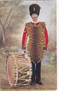 Northumberland Fusiliers , Bass Drummer , 00-10s ; TUCK