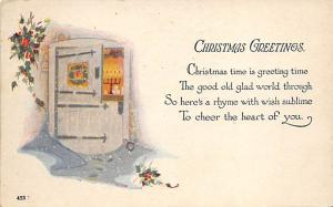 Christmas Post Card Antique Xmas Postcard 1929