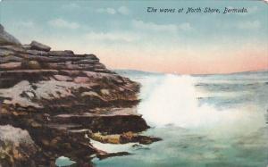 Bermuda The Waves At North Shore 1914