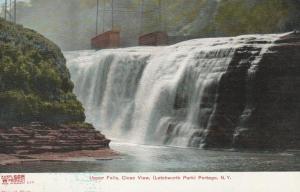 Upper Falls near Portage NY, New York - Letchworth State Park - DB