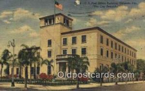 Orlando, FL USA,  Post Office Postcard, Postoffice Post Card Old Vintage Anti...