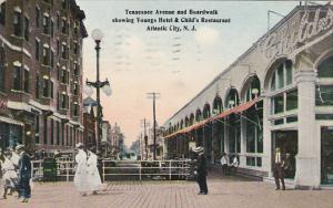 Tennessee Avenue and Boardwalk Showing Youngs Hotel and Child's Restaurant At...