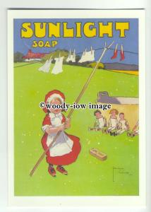 ad0454 - Sunlight Soap - Washing Dollys Clothes - Modern Advert Postcard