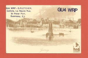 QSL AMATEUR RADIO CARD – GUERNSEY, CHANNEL ISLANDS – 1988